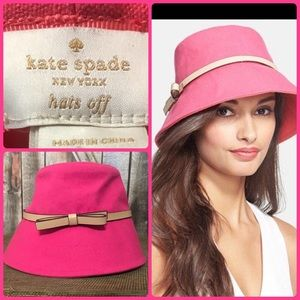 Kate Spade - Hats Off - PINK Bucket Hat